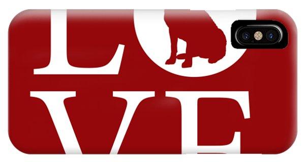 Labrador Love Red IPhone Case