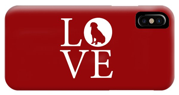 Labrador Love Red IPhone Case