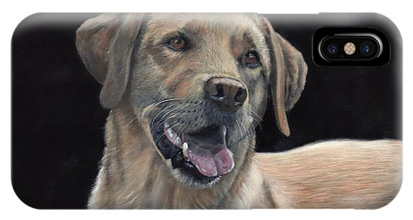 IPhone Case featuring the painting Labrador Portrait by John Neeve