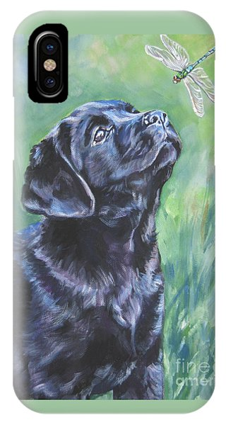 Pup iPhone Case - Labrador Retriever Pup And Dragonfly by Lee Ann Shepard