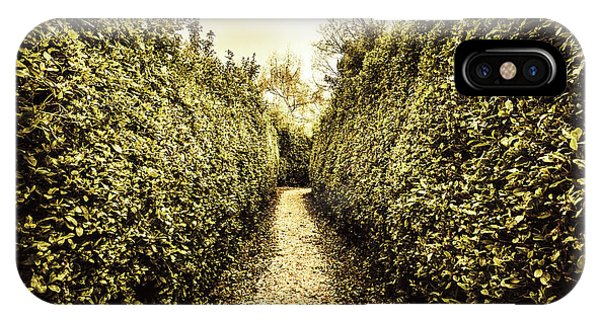 Garden Wall iPhone Case - Labyrinth Lane by Jorgo Photography - Wall Art Gallery