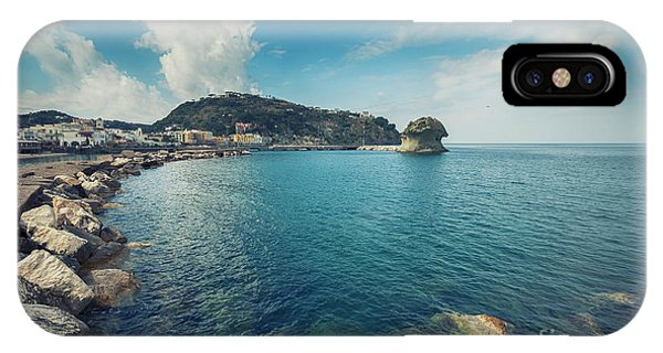 IPhone Case featuring the photograph Lacco Ameno Harbour ,  Ischia Island by Ariadna De Raadt
