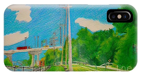 Lachine Canal Pencil Crayon IPhone Case