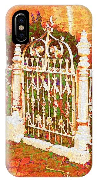 Lacy Garden Gate IPhone Case