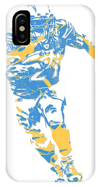 Phone Charger iPhone Case - Ladainian Tomlinson San Diego Los Angeles  Chargers Pixel Art 2 by 6e5ab0e3e