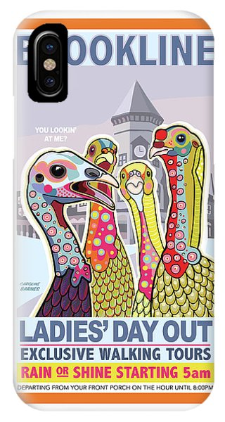 Turkey iPhone Case - Ladies' Day Out by Caroline Barnes