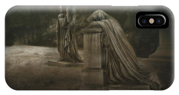 Cemetery iPhone Case - Ladies Of Eternal Sorrow by Tom Mc Nemar