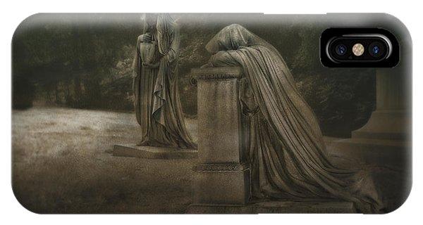 Cemetery iPhone Case - Ladies Of Eternal Sorrow by Tom Mc Nemar