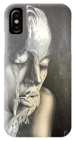 Lady Enjoying A Shower IPhone Case