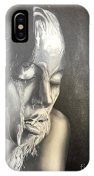 Lady Enjoying A Shower IPhone Case