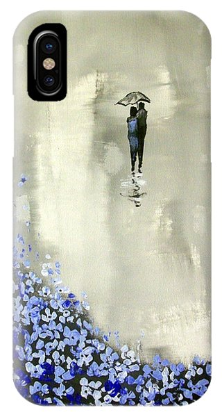 Lady In Blue IPhone Case