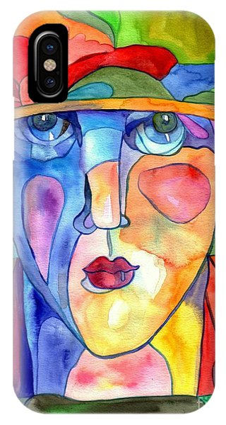 Ladies iPhone Case - Lady In Hat Watercolor by Suzann Sines