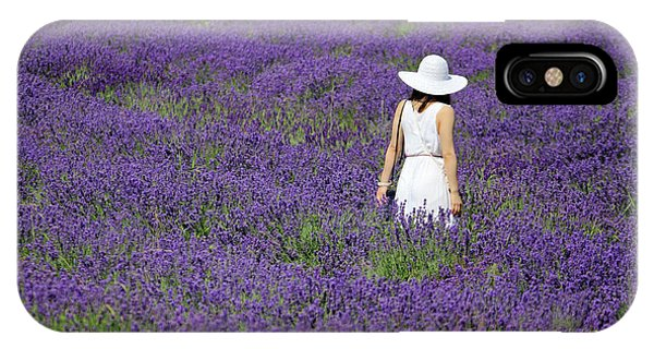 Lady In Lavender Field IPhone Case
