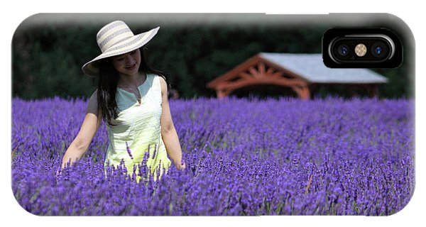 Lady In Lavender IPhone Case