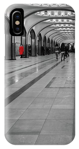 IPhone Case featuring the photograph Lady In Red by Geoff Smith