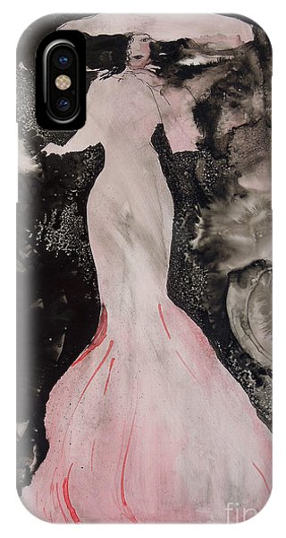 Lady In The Pink Hat IPhone Case