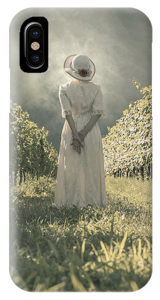 Lady In Vineyard IPhone Case