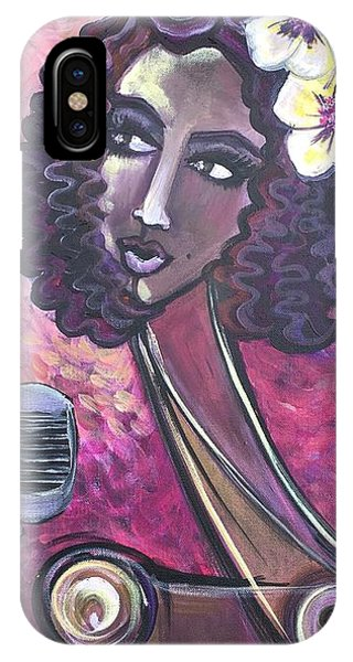 IPhone Case featuring the painting Lady Lauren Midnight Singer by Laurie Maves ART