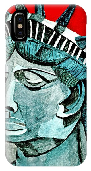 Watercolor iPhone Case - Lady Liberty by Anna Porter