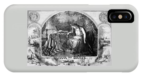 North iPhone Case - Lady Liberty Mourns During The Civil War by War Is Hell Store