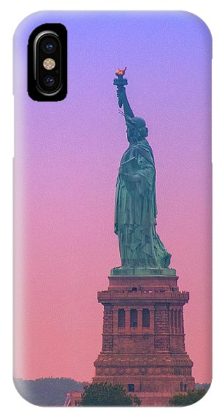 Lady Liberty, Standing Tall IPhone Case