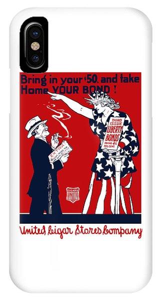 Lady Liberty War Bonds - Ww1 IPhone Case
