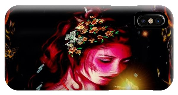 Lady Magic Butterfly IPhone Case