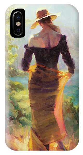 Impressionism iPhone X Case - Lady Of The Lake by Steve Henderson