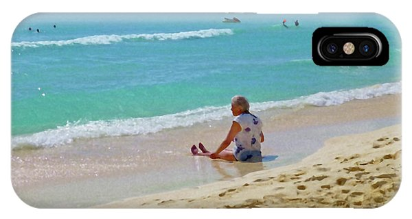 IPhone Case featuring the digital art Lady On The Beach by Francesca Mackenney