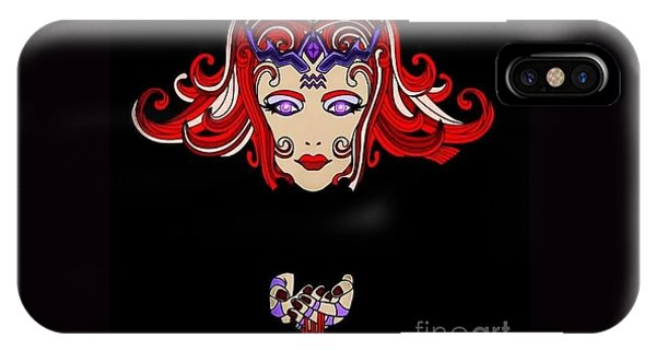 iPhone Case - Lady Red by Lisa Marie Towne