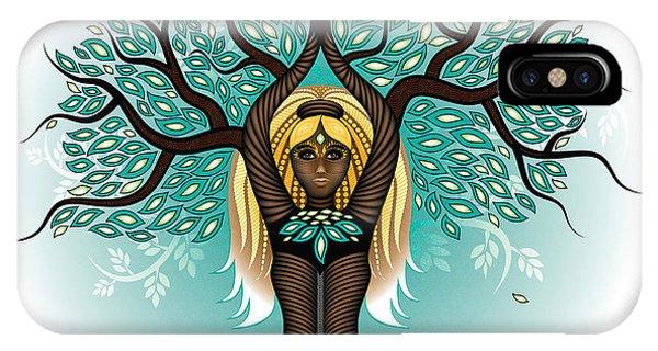 Lady Shaman Tree IPhone Case