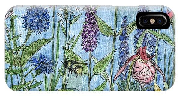 Lady Slipper In My Garden  IPhone Case