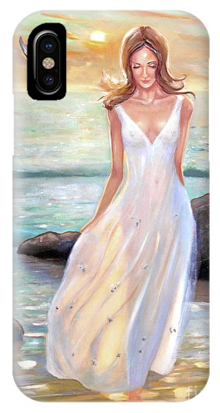 Lady Walking On The Beach IPhone Case