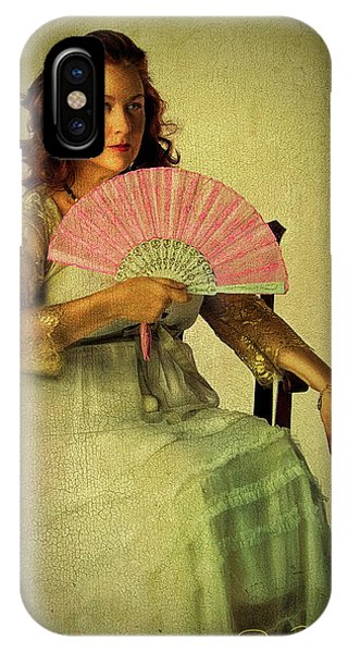 Lady With A Fan IPhone Case