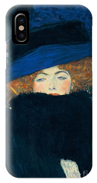 Elegant iPhone Case - Lady With A Hat And A Feather Boa by Gustav Klimt