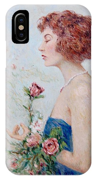 Lady With Roses  IPhone Case