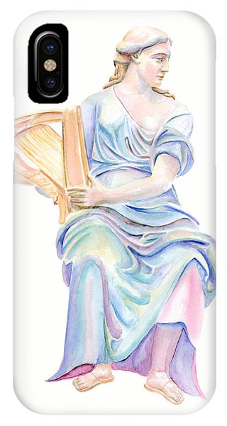 Lady With The Golden Harp IPhone Case
