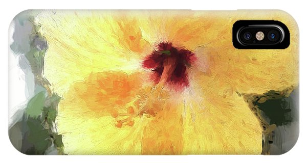 Lady Yellow IPhone Case