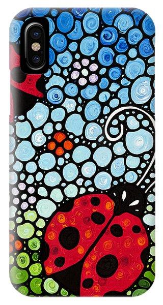 Ladybug Art - Joyous Ladies 2 - Sharon Cummings IPhone Case