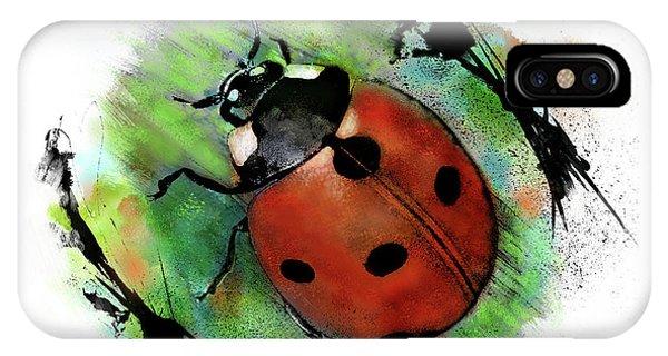 Ladybug Drawing IPhone Case