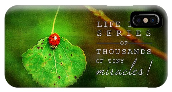 Ladybug On Leaf Thousand Miracles Quote IPhone Case