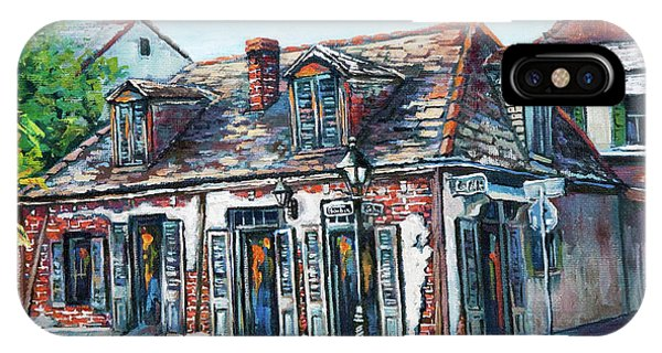 French Artist iPhone Case - Lafitte's Blacksmith Shop by Dianne Parks
