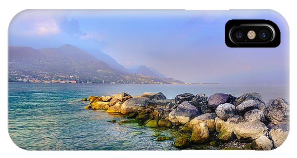 Lago Di Garda. Stones IPhone Case
