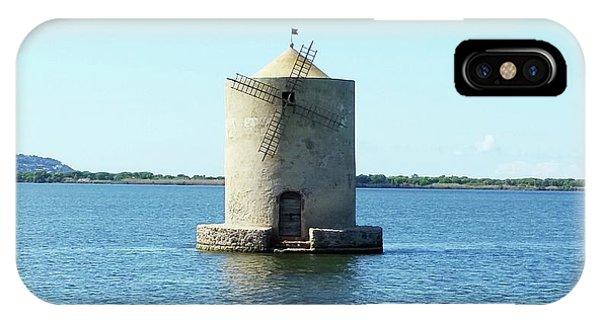 IPhone Case featuring the digital art Lagoon Of Orbetello by Joseph Hendrix