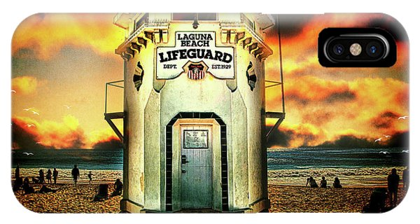 IPhone Case featuring the photograph Laguna Beach Lifeguard Hq by Chris Lord