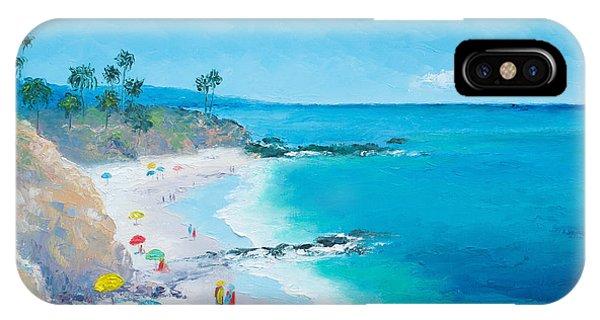 Laguna Beach iPhone Case - Laguna Beach Umbrellas by Jan Matson