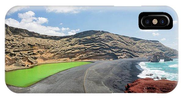 Black Sand iPhone Case - Laguna Verde by Delphimages Photo Creations