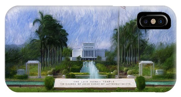 Laie Hawaii Temple IPhone Case