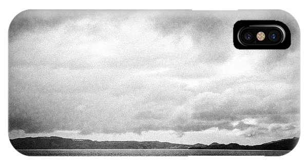 Cloud iPhone Case - Lake And Dramatic Sky Black And White by Matthias Hauser