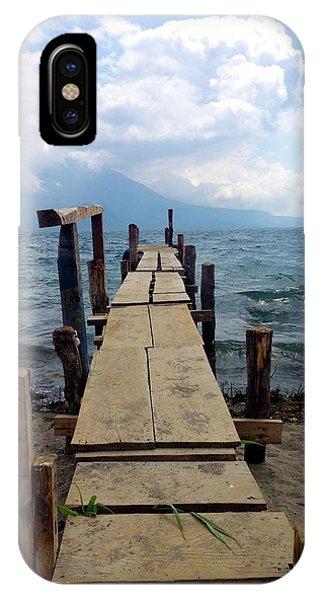 Lake Atitlan Dock IPhone Case